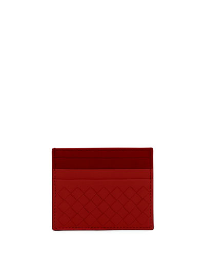 Bottega Veneta Woven Leather Credit Card Sleeve