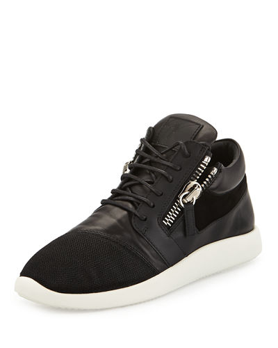 Giuseppe Zanotti Double-Zip Lace-Up Trainer Sneaker