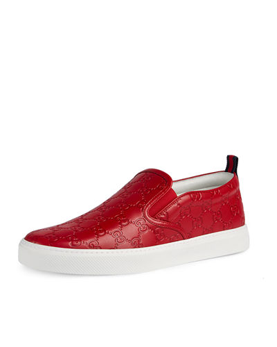 Gucci Dublin Signature Leather Slip-On Sneaker