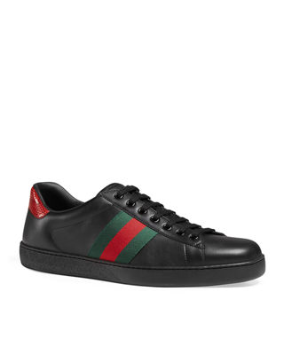 gucci shoes black snake. new ace leather low-top sneaker gucci shoes black snake i