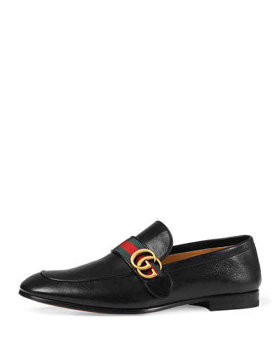 Gucci Donnie Web Leather Loafer