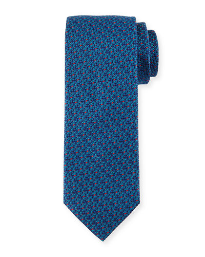 Neat Multicolored Dot-Print Tie