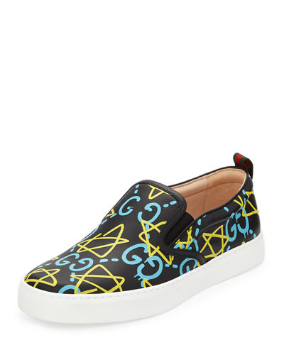 Dublin GucciGhost Leather Slip-On Sneaker