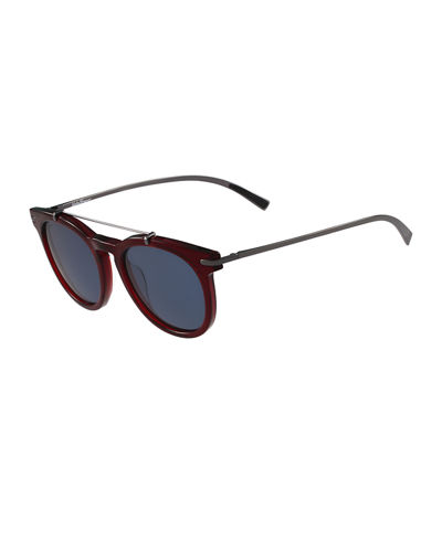 Round Sunglasses W/Metal Bar
