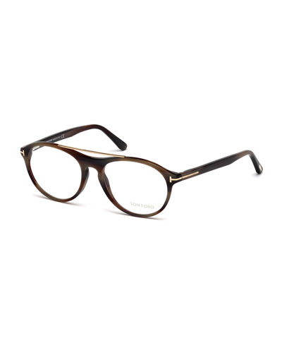 Acetate & Metal Pilot Eyeglasses