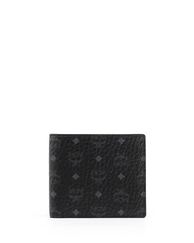 MCM Claus Small Monogram Canvas Wallet