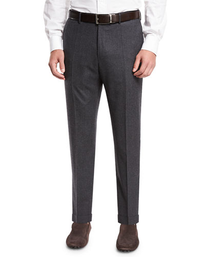 Benson Standard-Fit Wool Trousers