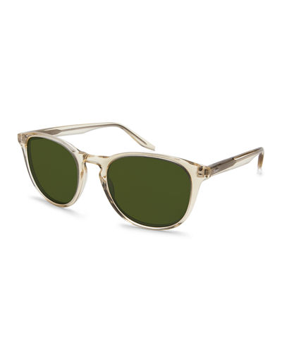Plimsoul Two-Tone Round Sunglasses