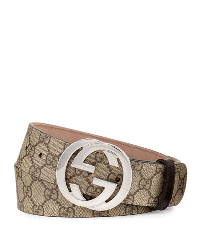 Gucci Gg Supreme Belt W Interlocking G
