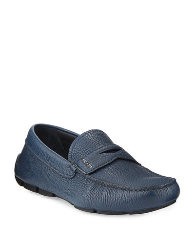 Pebbled Leather Driving Shoe