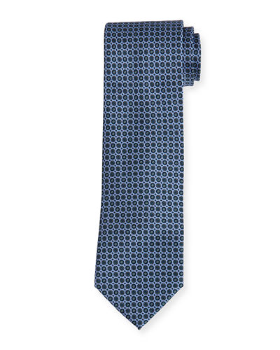 Brioni Circle Medallion Neat Silk Tie