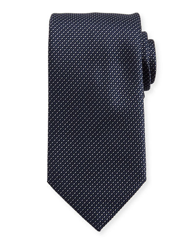 Brioni Textured Dot Neat Silk Tie