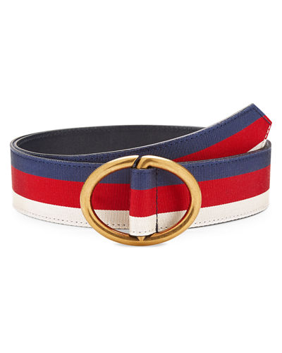 Men's Web Belt with Gold Buckle
