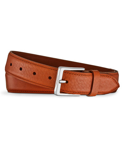 Shinola Bombe Leather Tab Belt