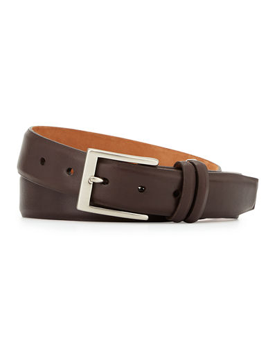 Basic Leather Belt with Interchangeable Buckles