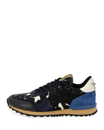 Men's Rockrunner Camustars Leather Trainer Sneaker