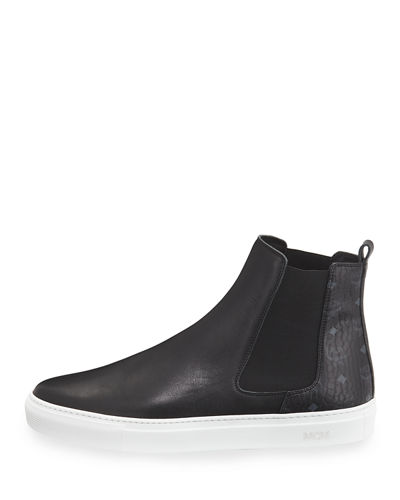 Visetos & Leather Chelsea Boot