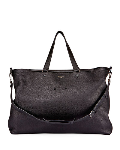 Blackout Men's Leather Weekender Bag