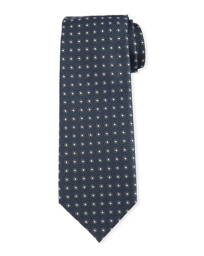 Neat Circle Silk-Wool Tie