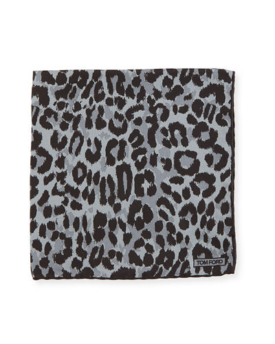 Jaguar Silk Twill Pocket Square