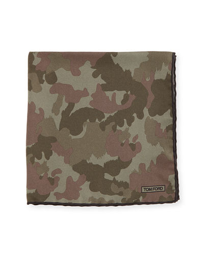 TOM FORD Camouflage Silk Twill Pocket Square