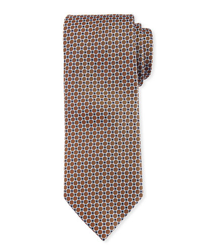 Brioni Connected Circles Silk Tie