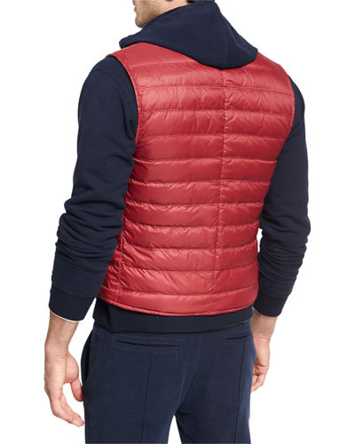 Quilted Nylon Snap Vest