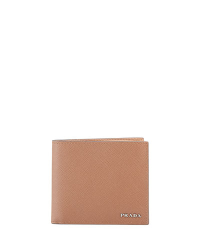 Saffiano Leather Bi-Fold Wallet