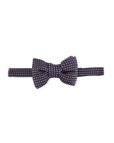 Textured Jacquard Bow Tie