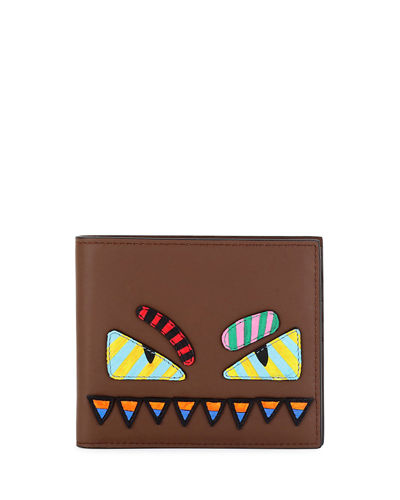 Monster Eyes Striped Wallet