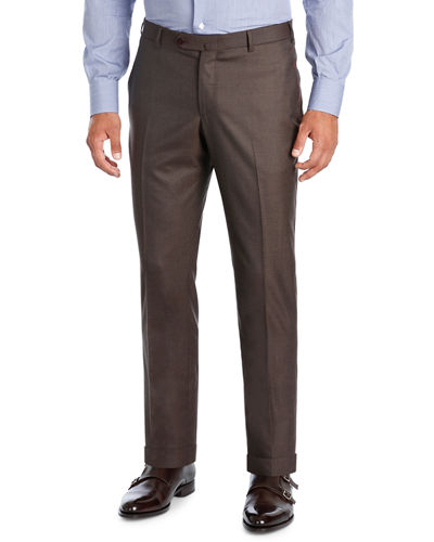 Extralight Saxony Flat-Front Trousers