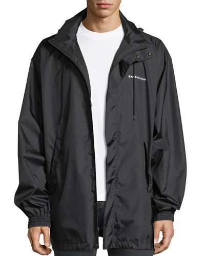 Hooded Logo Tech Jacket