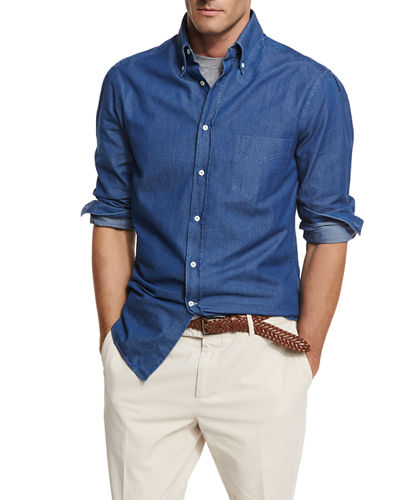 Long-Sleeve Button-Down Shirt