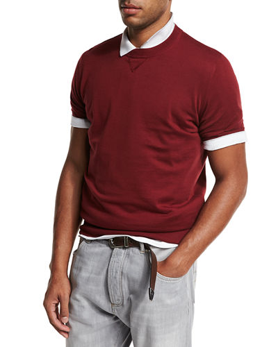 Athletic Short-Sleeve Sweatshirt