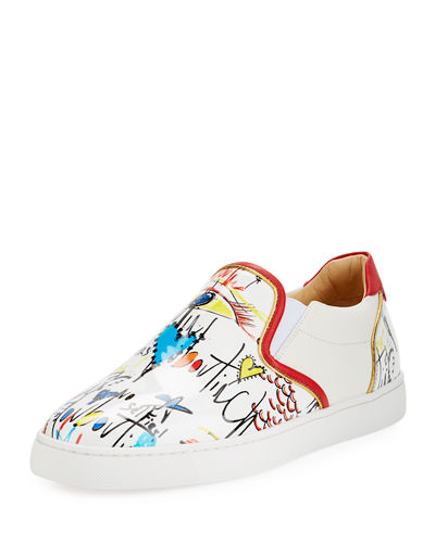 Sailor Boat Flat Patent Slip-On Sneaker