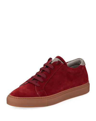 Men's Suede Lace-Up Sneaker