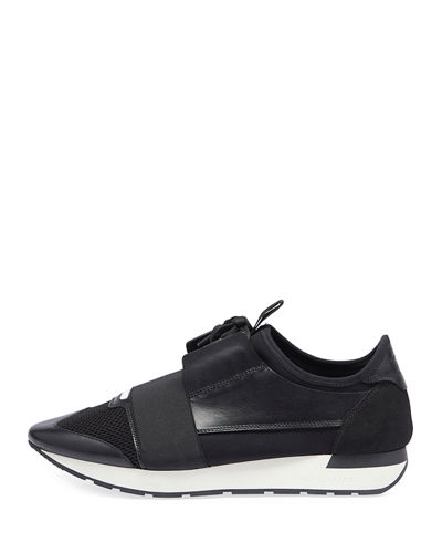 Men's Race Runner Mesh & Leather Sneaker