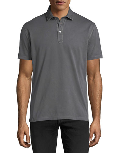 Solid Jersey Polo Shirt