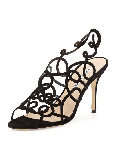 Gori Suede Squiggly Sandal
