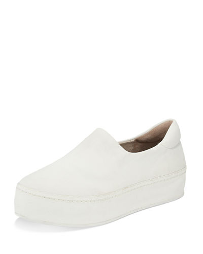 Stretch Canvas Platform Slip-On