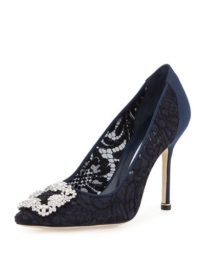 Hangisi Satin & Lace 105mm Pump