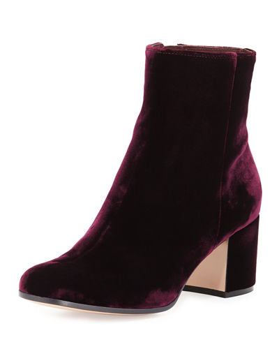 Gianvito Rossi Velvet 60mm Block-Heel Ankle Boot