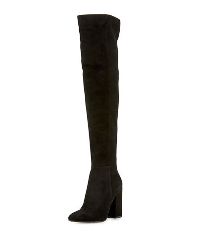 Rolling High Cuissard Seamed Suede 100mm Tall Boot