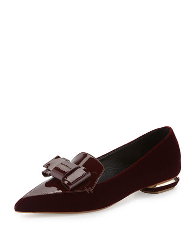 Beya Velvet Point-Toe Loafer