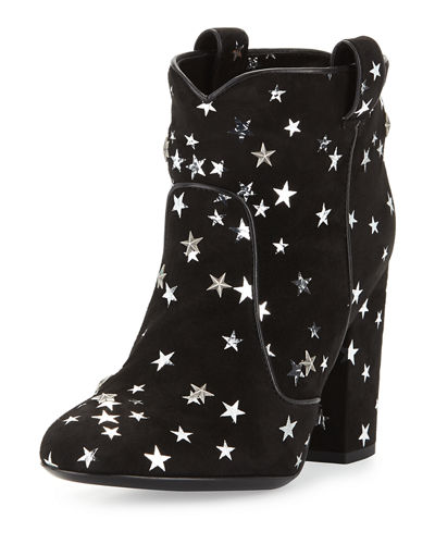 Pete Star-Print Suede Ankle Boot