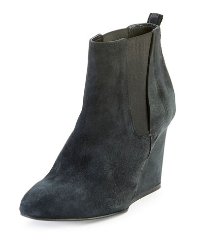 Suede Chelsea Wedge Boot