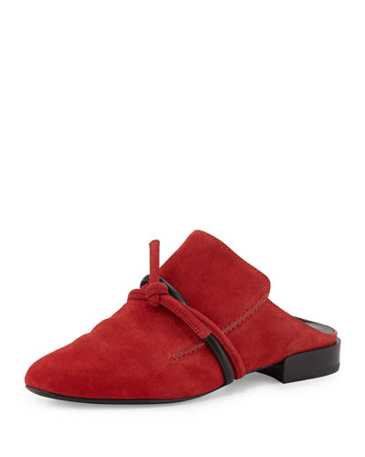 3.1 Phillip Lim Louie Top Knot Suede Mule