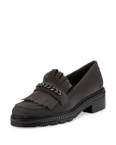 Bmoc Suede Kiltie Chain Loafer