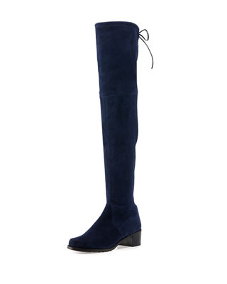 MIDLAND SUEDE OVER-THE-KNEE BOOT, NICE BLUE