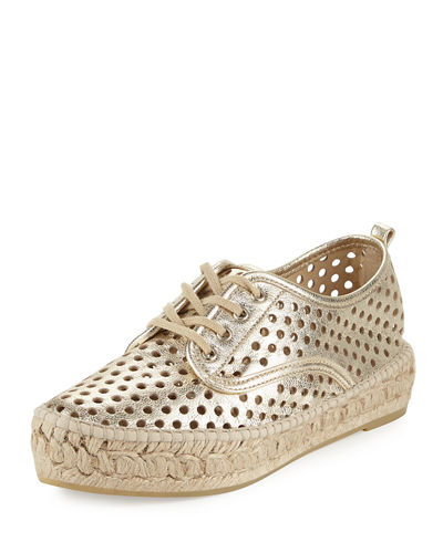 Alfie Perforated Leather Espadrille Sneaker